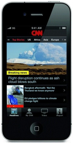large thumbnail 257x500 CNN goes worldwide; launches free international version of its iPhone app.