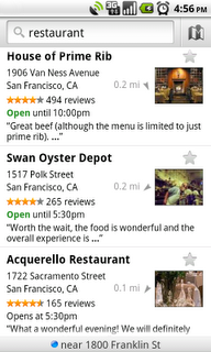 places results primerib edited Google Places gets an icon; better results in Google Maps.