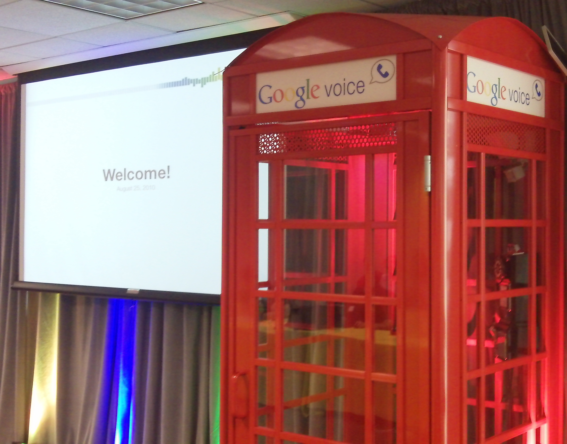 Google Voice Phone Booth