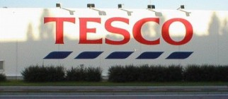 Tesco Logo On Wall 06-08-08