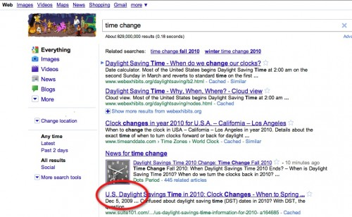 GoogleTimeChange 500x308 The TNW Review: blekko   Is this finally a Google killer?