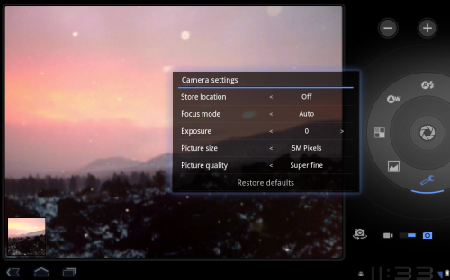 camera full 500x312 Google Drops Android 3.0 SDK Preview, Teases Screenshots