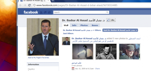 Bashar Al Assad on Facebook