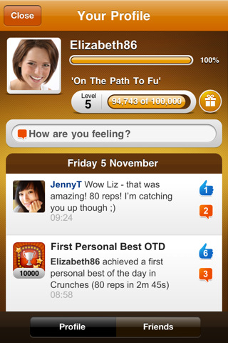 FitFu: Social fitness, on the iPhone, in the time you have