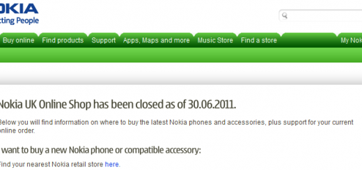 Nokia UK - Online shop closed