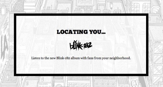 Blink 182   Neighborhoods 520x277 Get an early listen of Blink 182s Neighborhood with your neighbors via SoundCloud and SimpleGeo