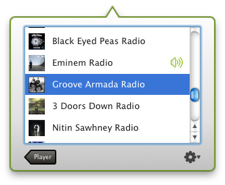 PandaBar Stations1 PandaBar may be the best way to listen to Pandora on a Mac