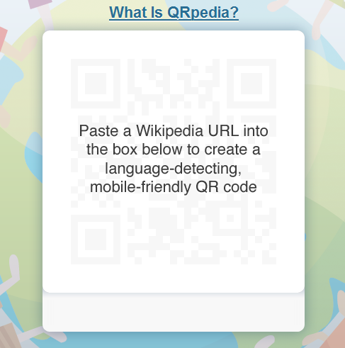 QRpedia Language detecting mobile friendly Wikipedia QR codes 1317302090701 QRpedia creates multilingual QR codes for Wikipedia articles