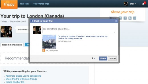 Recommendations for your trip to London Canada trippy.com  520x296 Trippy lets your Facebook friends help plan your next vacation