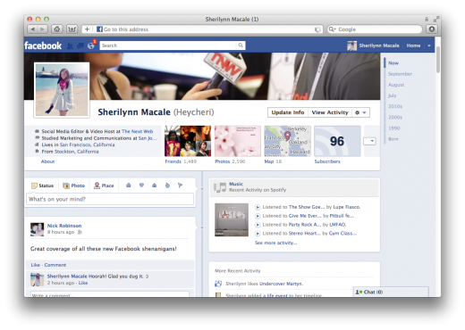 Screen Shot 2011 09 23 at 9.53.03 AM 520x370 You realize Timelines are COMPLETELY replacing Facebook profiles?