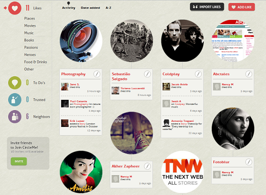 CMLikes CircleMe: A Social Network based on your Likes