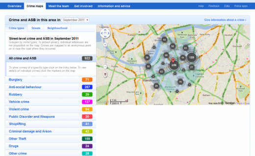 Crime maps for Shaftesbury 520x319 UK crime mapping website expands, you can now compare efficiency across police forces