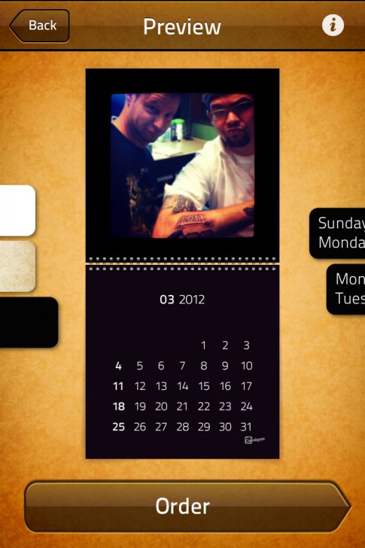 IMG 2127 520x780 Calendagram lets you create a wall calendar from your Instagram photos