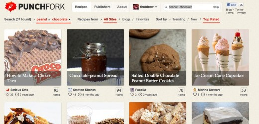 Peanut Chocolate Recipes punchfork.com 1 520x250 Punchfork turns bland recipes into a social trending food network