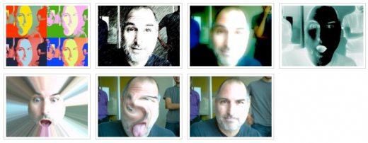 Screen Shot 2011 10 06 at 03.51.11 520x202 These photos will make you smile: Steve Jobs testing Photobooth