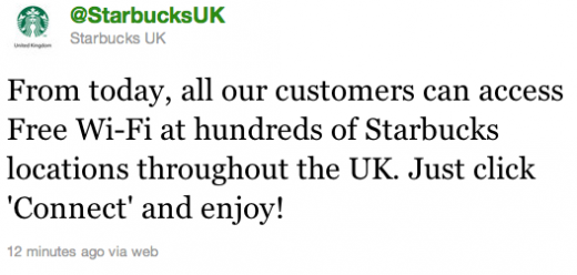 Screen Shot 2011 10 07 at 11.19.40 520x248 Starbucks rolls out free WiFi in the UK