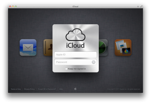 Screen Shot 2011 10 12 at 12.22.49 PM 520x359 iCloud website now out of beta and available to all