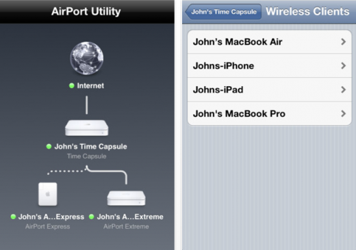 Screen Shot 2011 10 12 at 8.27.08 AM 520x366 Apple releases AirPort Utility for iOS 5, giving more control over your network