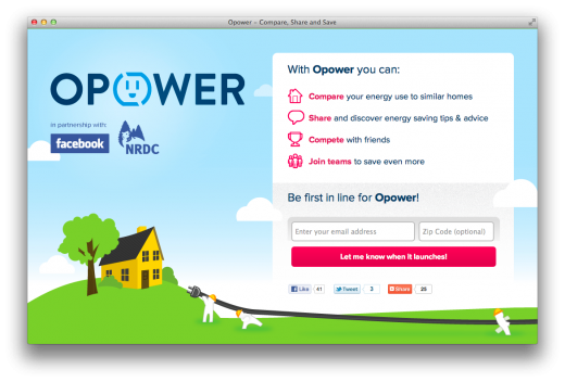 Screen Shot 2011 10 17 at 10.37.53 AM 520x352 Facebook partners with Opower & NRDC to create a social energy application
