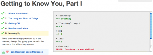 Screen shot 2011 10 14 at 1.38.15 PM 520x188 Codecademy: Learning to code just became fun, easy and slightly addictive