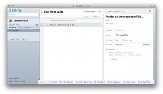 asana 520x302 Facebook co founder's project management app Asana in public beta [Updated]