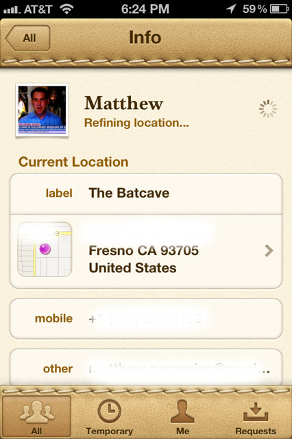 findfriends3 Apples Find my Friends app is live, but misses the mark completely