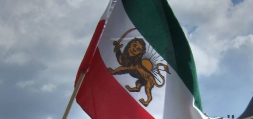 Flag waving: lion and sun