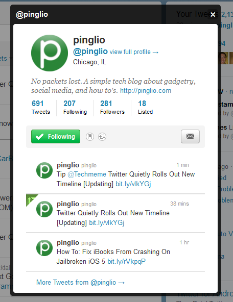 pinglio twitter4 Twitter provides more context for tweets on your Timeline