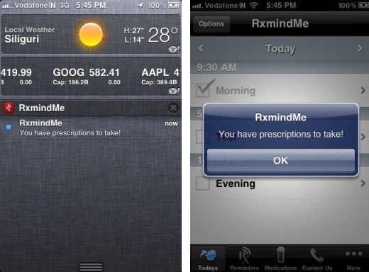 rxmindme 1 520x384 RxmindMe for iPhone is the ideal app to help you take your pills on time
