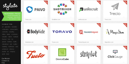 stylate Cant think of a name and logo for your new startup? Stylate will save the day for $250