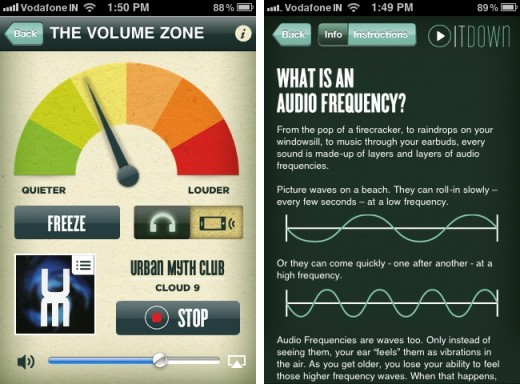 turn it down 2 520x384 Play It Down for iPhone lets you test your hearing and helps preserve it