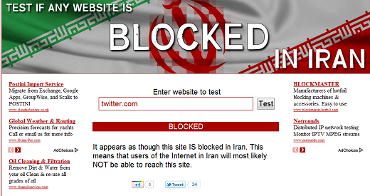twitterblocked YouTube, Facebook and Twitter reportedly temporarily accessible in Iran due to disruption