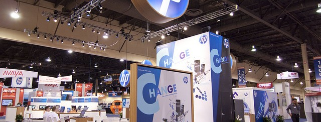 HP Booth before the crowds descend