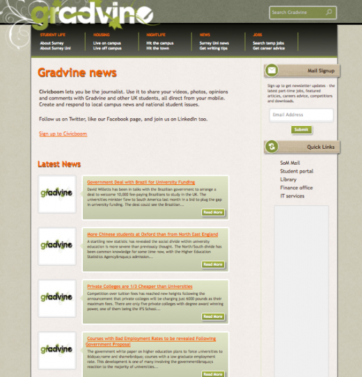 6. Gradvine API example 520x542 Civicboom: This open platform lets organizations request content from their audience