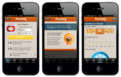 80131 updated foodzy app large 1321960251 Foodzy makes healthy eating fun with a new dashboard and Withings Scale support