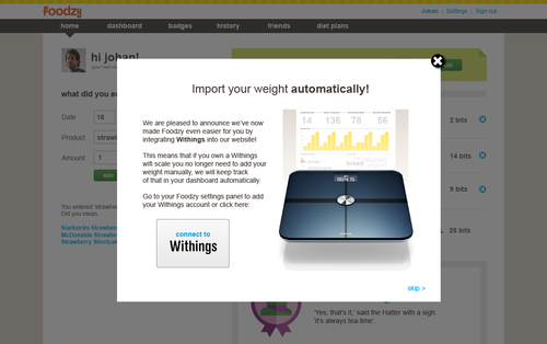 80132 lightbox withings pr large 13219603151 Foodzy makes healthy eating fun with a new dashboard and Withings Scale support