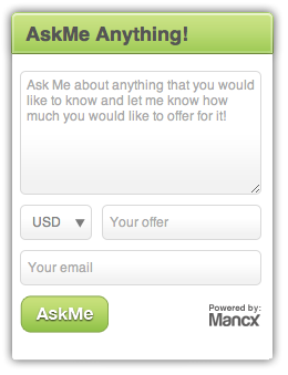 AskMe Sell Your Knowledge and Expertise on Your Blog, with Mancxs New Widget