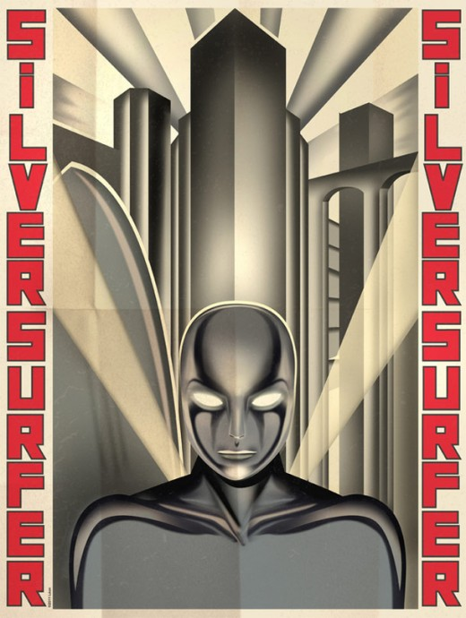 Deco Superhero Art Design Posters 51 520x690 Decorate your geeky lair with these cool art deco superhero posters