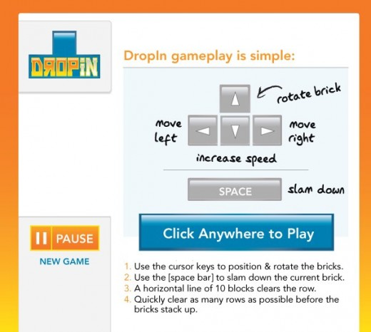 DropIn Play DropIn with your connections on LinkedIn 2 520x466 Play Tetris using your LinkedIn connections with DropIn