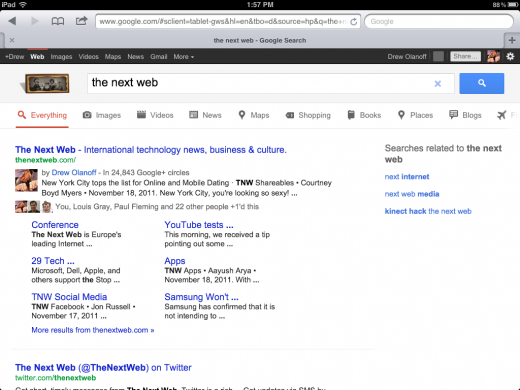 IMG 0102 520x390 Google Search gets slight, but extremely useful tweaks for iPad