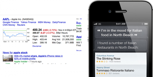 Screen Shot 2011 11 04 at 3.15.26 PM 520x262 Googles Eric Schmidt thinks Siri is a significant competitive threat