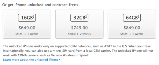 Screen Shot 2011 11 11 at 14.50.48 520x214 Apple begins taking orders for unlocked iPhone 4S in the US