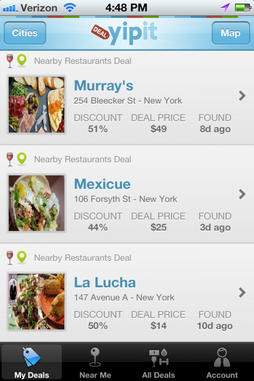 YipitApp 1 520x780 Yipit Launches its First iPhone App to Aggregate Daily Deals