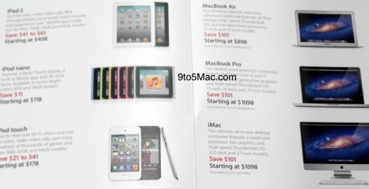 apple black friday deals 2011 520x267 Apple's Black Friday deals revealed: $100 off Macs, up to $60 discount on iPads