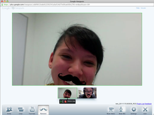 cool1 Google+ drops a Movember inspired easter egg into Hangouts