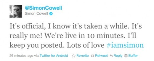 cowell 520x206 Media Powerhouse Simon Cowell Officially Joins Twitter