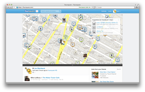 full screen Foursquare Completely Revamps Its Site For Better Content Discovery
