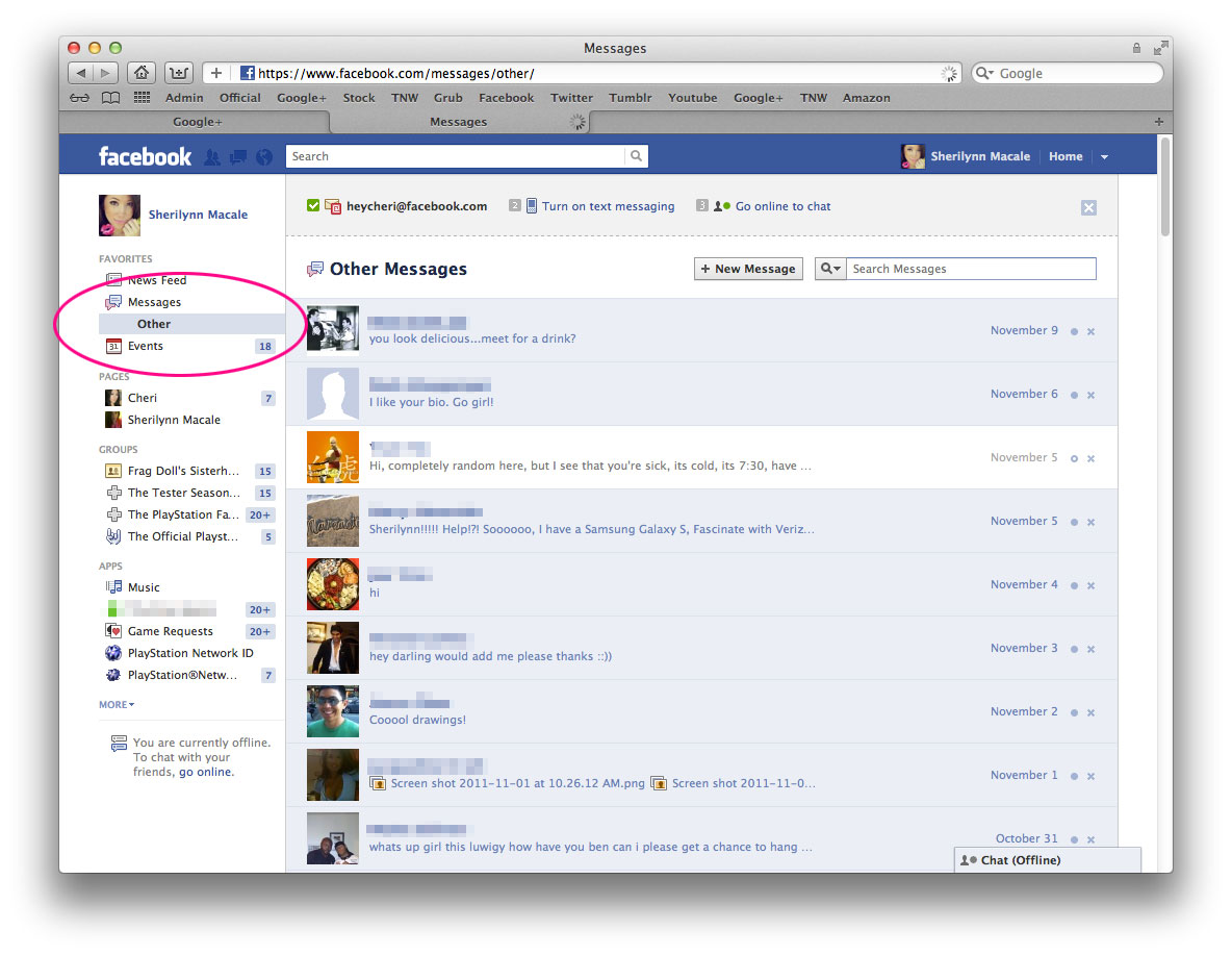 message privacy on facebook