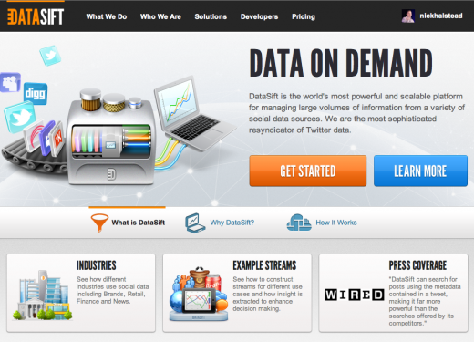homepage 520x375 DataSift Launches its Social Media Data Filtering Platform in the US