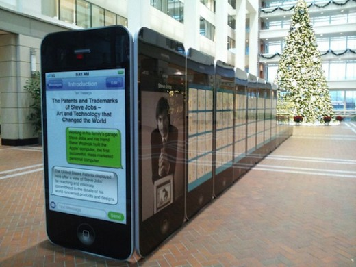 jobs uspto exhibit 1 520x390 The U.S. Patent Office honors Steve Jobs with a beautiful exhibit